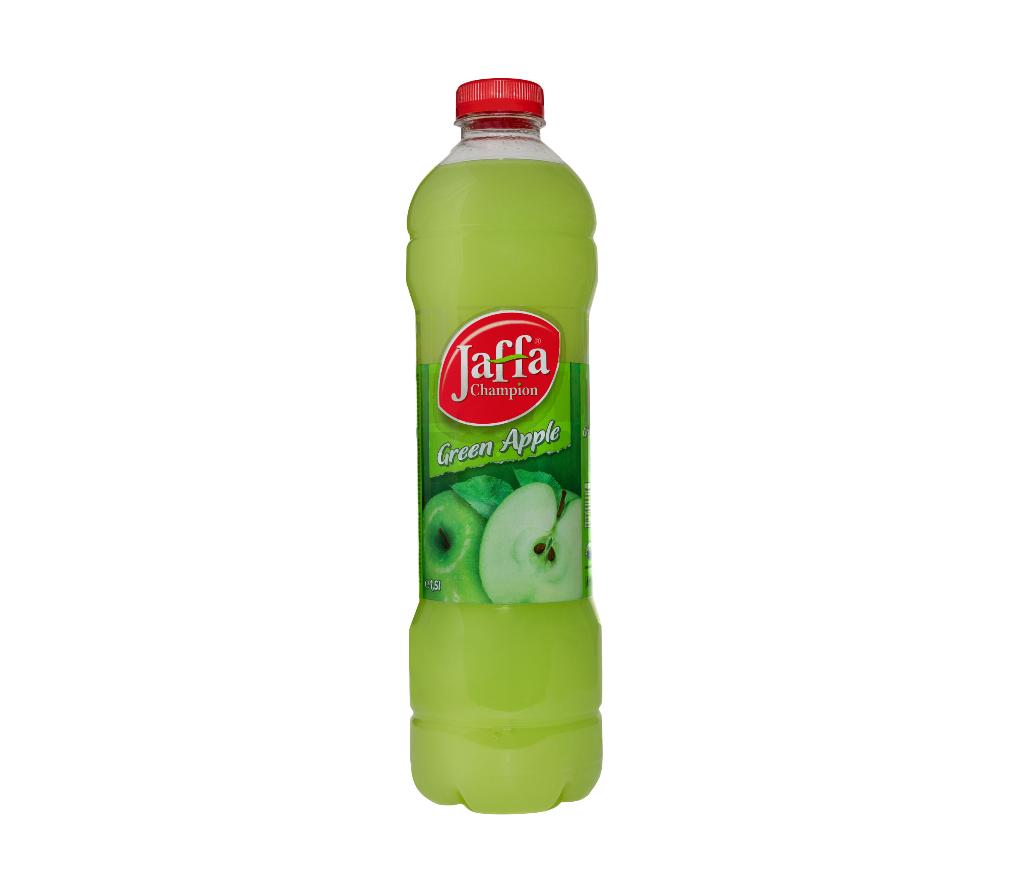 """Erfrischungsgetränk """"Jaffa Champion Green Apple"""" / Inhalt: 1,5L"""