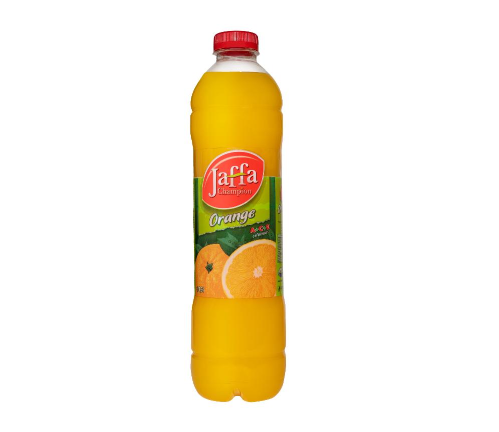 """Erfrischungsgetränk """"Jaffa Champion Orange"""" / Inhalt: 1,5L"""