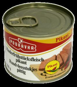 Rinder Frühstücksfleisch / Podravka / Art: pikant / Gewicht: 200 g
