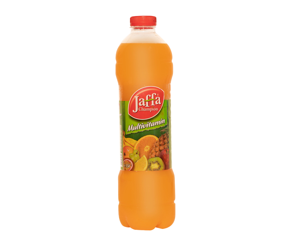 """Erfrischungsgetränk """"Jaffa Champion Multivitamin"""" / Inhalt: 1,5L"""